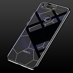 Huawei Honor View 20用極薄ソフトケース シリコンケース 耐衝撃 全面保護 クリア透明 S05 ファーウェイ ブラック