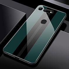 Huawei Honor View 20用ハイブリットバンパーケース プラスチック 鏡面 カバー T03 ファーウェイ グリーン
