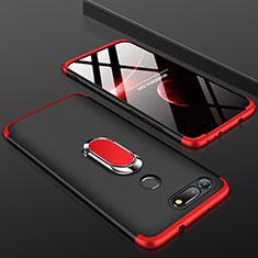 Huawei Honor View 20用ハードケース プラスチック 質感もマット 前面と背面 360度 フルカバー P01 ファーウェイ レッド・ブラック