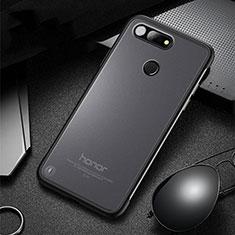 Huawei Honor View 20用ハードカバー クリスタル クリア透明 S03 ファーウェイ ブラック