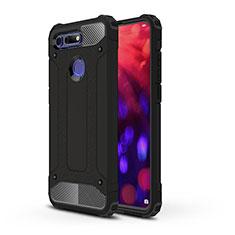Huawei Honor View 20用ハイブリットバンパーケース プラスチック 兼シリコーン カバー R03 ファーウェイ ブラック