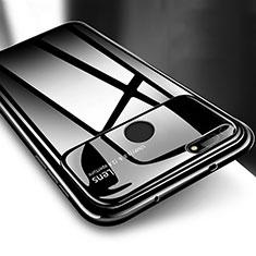 Huawei Honor View 20用ハードケース プラスチック 質感もマット カバー P04 ファーウェイ ブラック