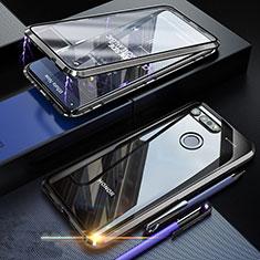 Huawei Honor View 20用ケース 高級感 手触り良い アルミメタル 製の金属製 360度 フルカバーバンパー 鏡面 カバー K01 ファーウェイ ブラック