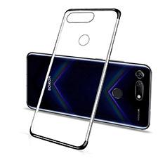 Huawei Honor View 20用極薄ソフトケース シリコンケース 耐衝撃 全面保護 クリア透明 C01 ファーウェイ ブラック