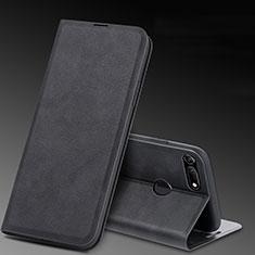 Huawei Honor View 20用手帳型 レザーケース スタンド カバー T08 ファーウェイ ブラック