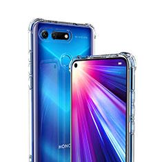 Huawei Honor View 20用極薄ソフトケース シリコンケース 耐衝撃 全面保護 クリア透明 K01 ファーウェイ クリア