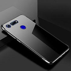 Huawei Honor View 20用極薄ソフトケース シリコンケース 耐衝撃 全面保護 クリア透明 S01 ファーウェイ ブラック