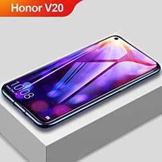 Huawei Honor View 20用強化ガラス フル液晶保護フィルム アンチグレア ブルーライト F03 ファーウェイ ブラック