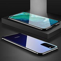 Huawei Honor View 30 5G用ケース 高級感 手触り良い アルミメタル 製の金属製 360度 フルカバーバンパー 鏡面 カバー M01 ファーウェイ ブラック