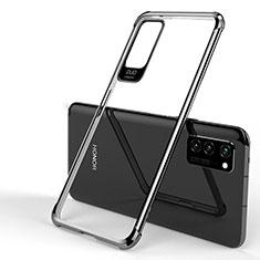 Huawei Honor View 30 5G用極薄ソフトケース シリコンケース 耐衝撃 全面保護 クリア透明 H01 ファーウェイ ブラック