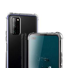 Huawei Honor View 30 5G用極薄ソフトケース シリコンケース 耐衝撃 全面保護 クリア透明 T02 ファーウェイ クリア