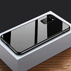Huawei Honor View 30 5G用ケース 高級感 手触り良い アルミメタル 製の金属製 360度 フルカバーバンパー 鏡面 カバー M03 ファーウェイ ブラック