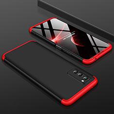 Huawei Honor View 30 5G用ハードケース プラスチック 質感もマット 前面と背面 360度 フルカバー ファーウェイ レッド・ブラック