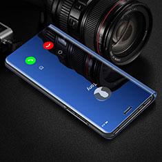 Huawei Honor View 30 5G用手帳型 レザーケース スタンド 鏡面 カバー ファーウェイ ネイビー