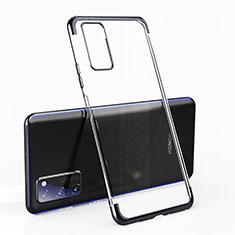Huawei Honor View 30 5G用極薄ソフトケース シリコンケース 耐衝撃 全面保護 クリア透明 H02 ファーウェイ ブラック