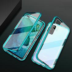 Huawei Honor View 30 5G用ケース 高級感 手触り良い アルミメタル 製の金属製 360度 フルカバーバンパー 鏡面 カバー M04 ファーウェイ グリーン