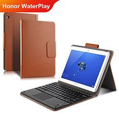 Huawei Honor WaterPlay 10.1 HDN-W09用手帳型 レザーケース スタンド L01 ファーウェイ ゴールド
