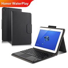 Huawei Honor WaterPlay 10.1 HDN-W09用手帳型 レザーケース スタンド L01 ファーウェイ ブラック