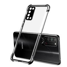 Huawei Honor X10 5G用極薄ソフトケース シリコンケース 耐衝撃 全面保護 クリア透明 S01 ファーウェイ ブラック