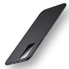 Huawei Honor X10 5G用ハードケース プラスチック 質感もマット カバー P05 ファーウェイ ブラック