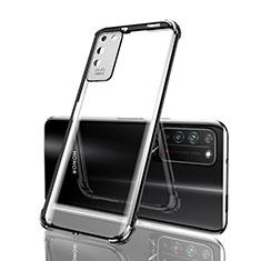 Huawei Honor X10 5G用極薄ソフトケース シリコンケース 耐衝撃 全面保護 クリア透明 S04 ファーウェイ ブラック