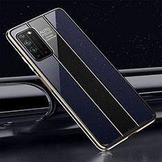 Huawei Honor X10 5G用ハイブリットバンパーケース プラスチック 鏡面 カバー T01 ファーウェイ ネイビー