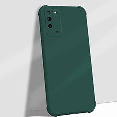 Huawei Honor X10 5G用360度 フルカバー極薄ソフトケース シリコンケース 耐衝撃 全面保護 バンパー C01 ファーウェイ グリーン