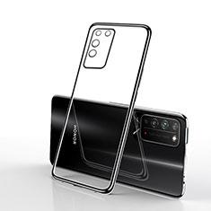 Huawei Honor X10 5G用極薄ソフトケース シリコンケース 耐衝撃 全面保護 クリア透明 S02 ファーウェイ ブラック