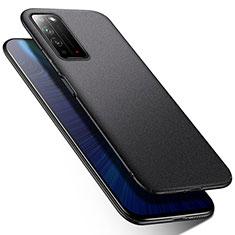 Huawei Honor X10 5G用ハードケース プラスチック 質感もマット カバー M01 ファーウェイ ブラック