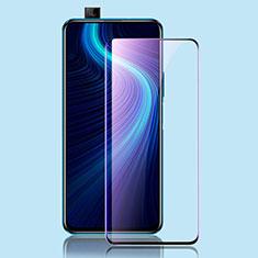 Huawei Honor X10 5G用強化ガラス フル液晶保護フィルム アンチグレア ブルーライト ファーウェイ ブラック