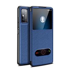 Huawei Honor X10 Max 5G用手帳型 レザーケース スタンド カバー ファーウェイ ネイビー