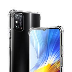 Huawei Honor X10 Max 5G用極薄ソフトケース シリコンケース 耐衝撃 全面保護 クリア透明 カバー ファーウェイ クリア
