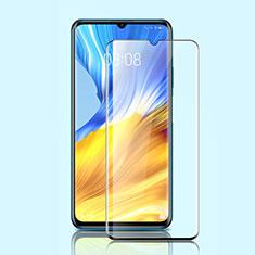 Huawei Honor X10 Max 5G用強化ガラス フル液晶保護フィルム ファーウェイ ブラック