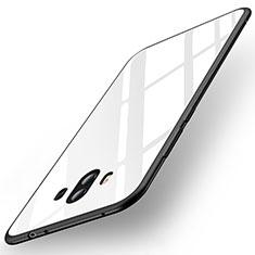 Huawei Mate 10用ハイブリットバンパーケース プラスチック 鏡面 カバー ファーウェイ ホワイト