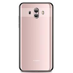 Huawei Mate 10用極薄ソフトケース シリコンケース 耐衝撃 全面保護 クリア透明 H01 ファーウェイ ブラック
