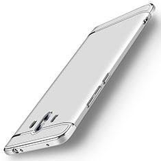 Huawei Mate 10用ケース 高級感 手触り良い メタル兼プラスチック バンパー M01 ファーウェイ シルバー