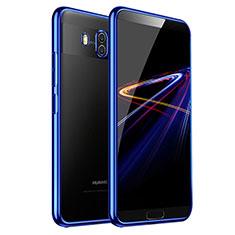 Huawei Mate 10用極薄ソフトケース シリコンケース 耐衝撃 全面保護 クリア透明 T03 ファーウェイ ネイビー