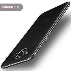 Huawei Mate 10用極薄ソフトケース シリコンケース 耐衝撃 全面保護 クリア透明 T04 ファーウェイ クリア