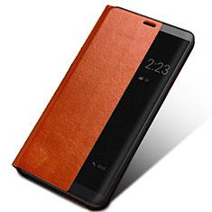 Huawei Mate 10用手帳型 レザーケース スタンド ファーウェイ ブラウン
