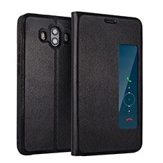 Huawei Mate 10用手帳型 レザーケース スタンド L01 ファーウェイ ブラック