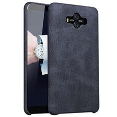 Huawei Mate 10用ケース 高級感 手触り良いレザー柄 ファーウェイ ブラック