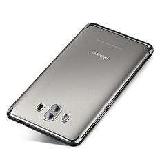 Huawei Mate 10用極薄ソフトケース シリコンケース 耐衝撃 全面保護 クリア透明 H04 ファーウェイ シルバー