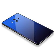 Huawei Mate 10用ハイブリットバンパーケース プラスチック 鏡面 カバー M01 ファーウェイ ネイビー