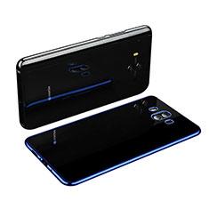 Huawei Mate 10用極薄ソフトケース シリコンケース 耐衝撃 全面保護 クリア透明 H03 ファーウェイ ネイビー