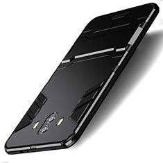 Huawei Mate 10用ハイブリットバンパーケース スタンド プラスチック 兼シリコーン ファーウェイ ブラック