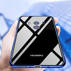 Huawei Mate 10用極薄ソフトケース シリコンケース 耐衝撃 全面保護 クリア透明 T19 ファーウェイ ネイビー