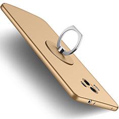 Huawei Mate 10用極薄ソフトケース シリコンケース 耐衝撃 全面保護 アンド指輪 ファーウェイ ゴールド