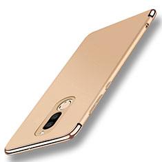 Huawei Mate 10 Lite用ケース 高級感 手触り良い メタル兼プラスチック バンパー アンド指輪 A01 ファーウェイ ゴールド