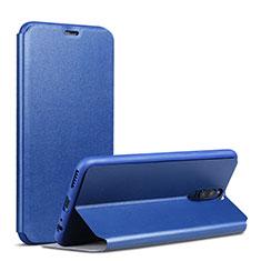 Huawei Mate 10 Lite用手帳型 レザーケース スタンド L01 ファーウェイ ネイビー