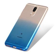 Huawei Mate 10 Lite用極薄ソフトケース グラデーション 勾配色 クリア透明 G01 ファーウェイ ネイビー